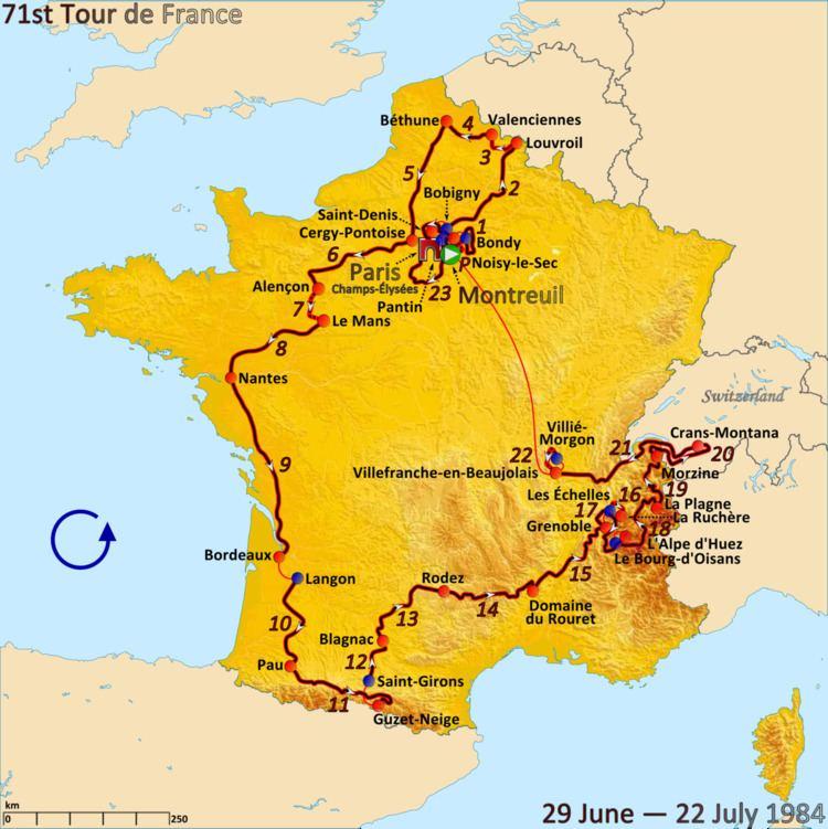 1984 Tour de France, Prologue to Stage 11