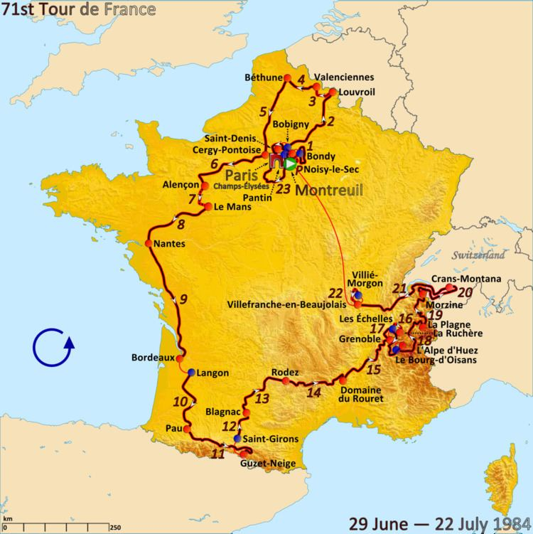 1984 Tour de France, Stage 12 to Stage 23