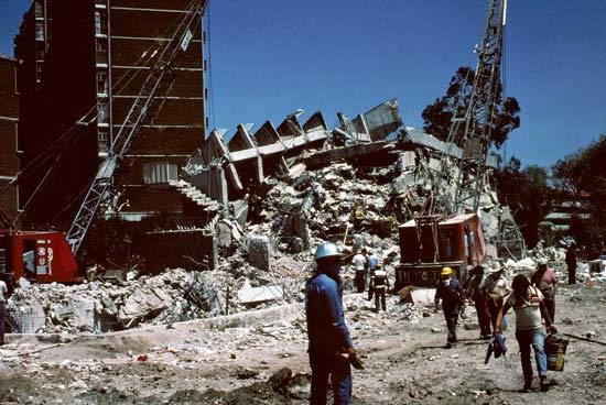 1985 Mexico City earthquake Mexico City earthquake of 1985 Mexico Britannicacom