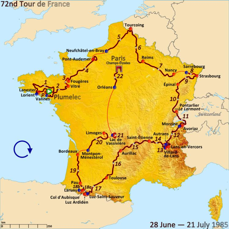 1985 Tour de France, Stage 12 to Stage 22