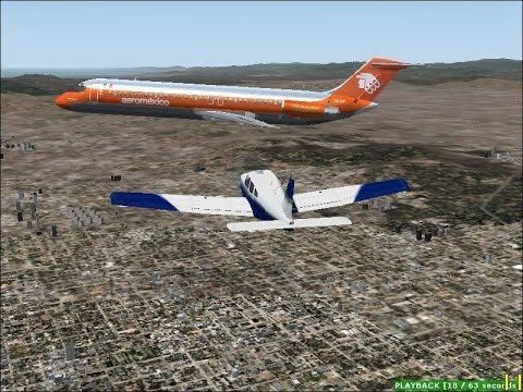 1986 Cerritos mid-air collision FS2004 Collision Over LA 1986 Cerritos midair collision YouTube