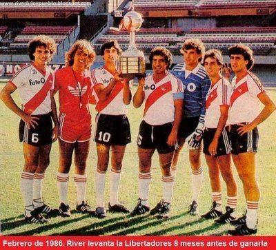 1986 Copa Libertadores POR AMOR A RIVER COPA LIBERTADORES 1986