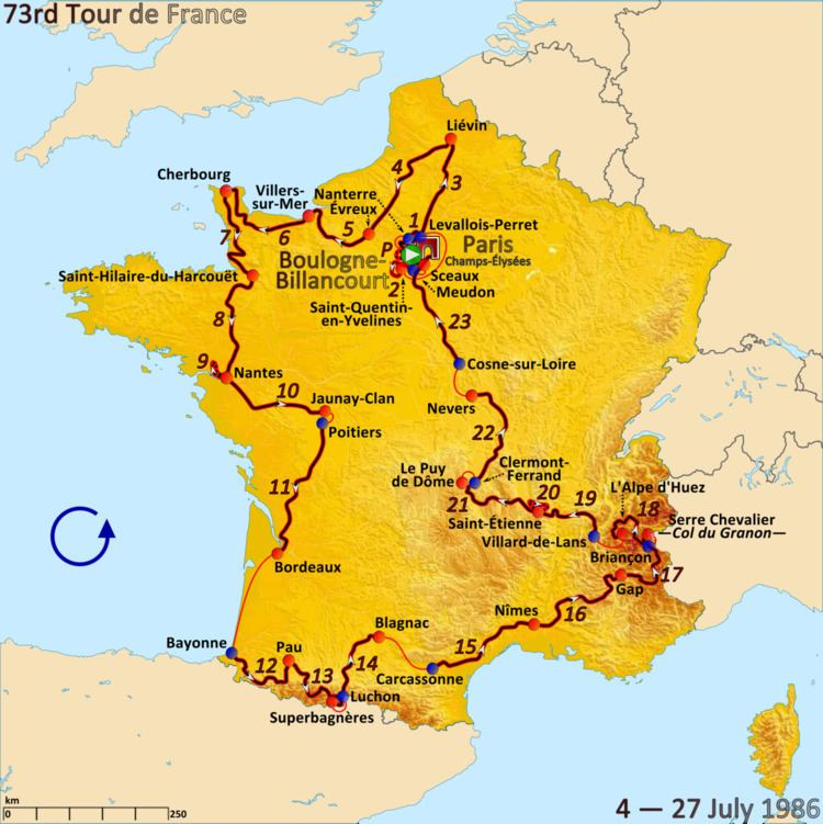 1986 Tour de France, Prologue to Stage 11