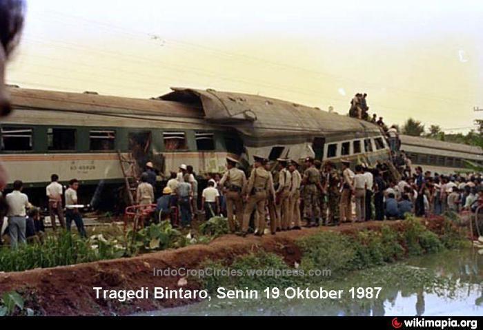 1987 Bintaro train crash Bintaro train crash site Monday October 19th 1987 Jakarta