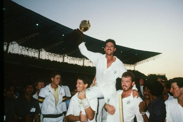 1987 Cricket World Cup A look back at 1987 Cricket World Cup Awesome Australia win maiden