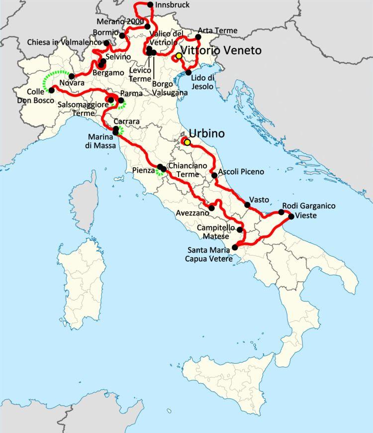 1988 Giro d'Italia, Stage 1 to Stage 11