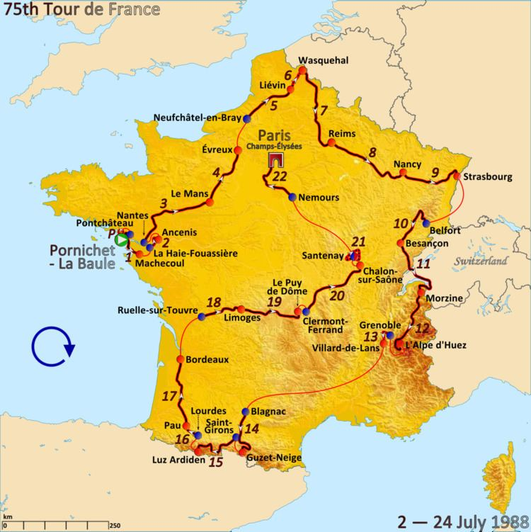 1988 Tour de France, Stage 12 to Stage 22