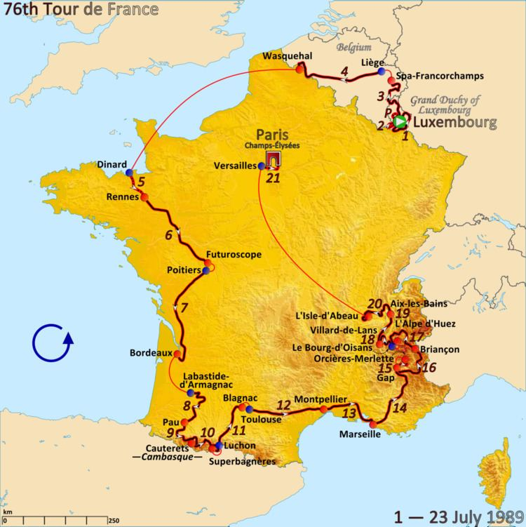 1989 Tour de France, Prologue to Stage 10
