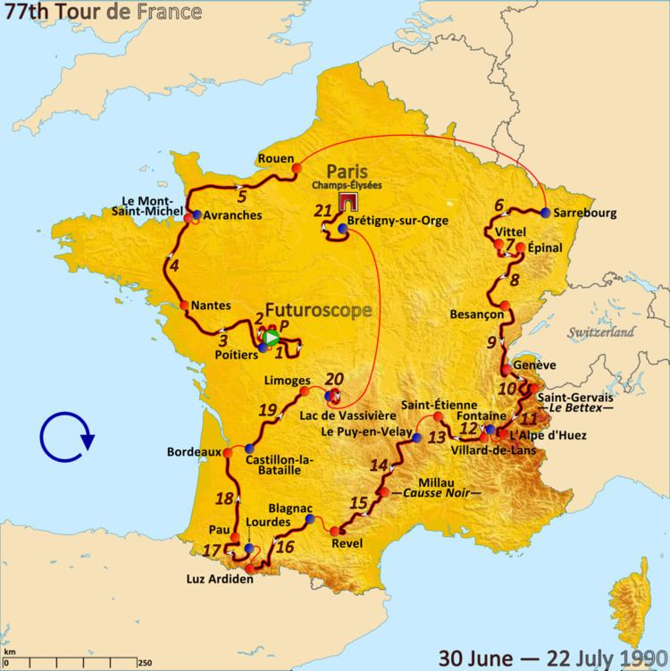 1990 Tour de France, Stage 11 to Stage 21