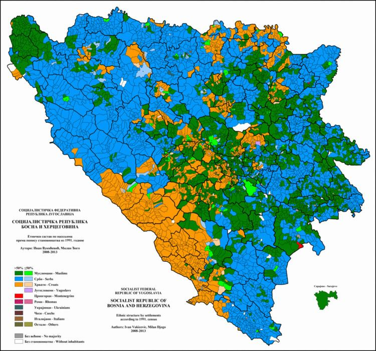 1991 population census in Bosnia and Herzegovina