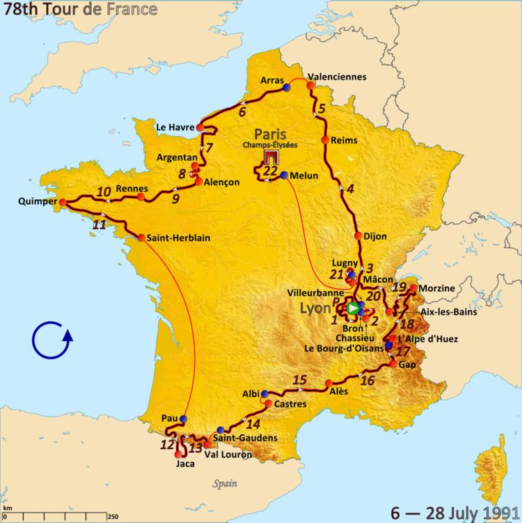 1991 Tour de France, Stage 12 to Stage 22