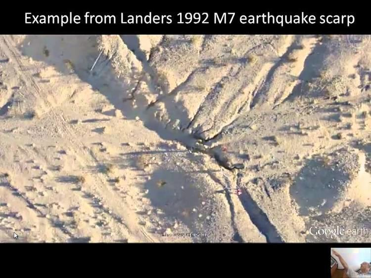 1992 Landers earthquake 1081992 Landers Earthquake LIPI Indonesia lectures 2013 YouTube