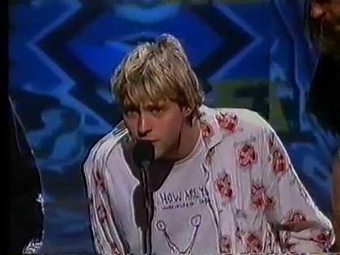 1992 MTV Video Music Awards Nirvana Best New Artist acceptance MTV Video Music Awards 1992