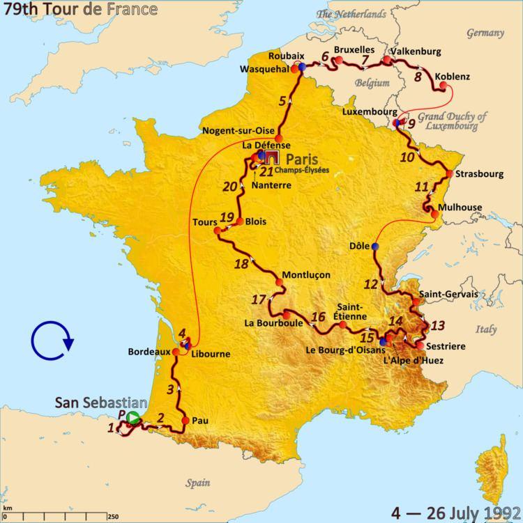 1992 Tour de France, Prologue to Stage 10