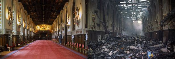 1992 Windsor Castle fire November 20 1992 Queen faces huge repair bill as Windsor Castle is