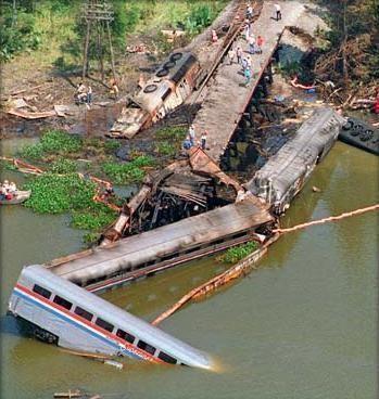 1993 Big Bayou Canot train wreck Big Bayou Canot Rail Disaster Scene