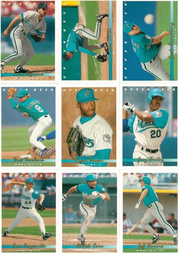1993 Florida Marlins season 1993 marlins 30Year Old Cardboard