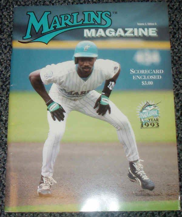 1993 Florida Marlins season 1993 Florida Marlins Inaugural Year Scorecard