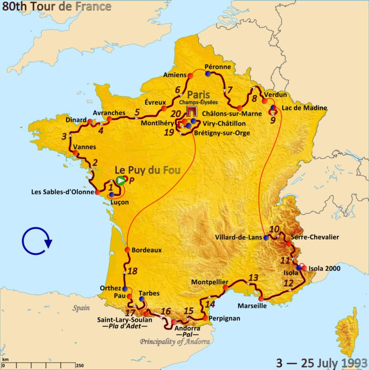 1993 Tour de France, Prologue to Stage 10