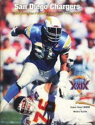 1994 San Diego Chargers season Amazoncom 1994 San Diego Chargers Super Bowl XXIX Media Guide With
