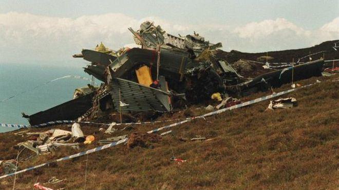 1994 Scotland RAF Chinook crash Mull of Kintyre crash Memorials mark 20th anniversary of RAF