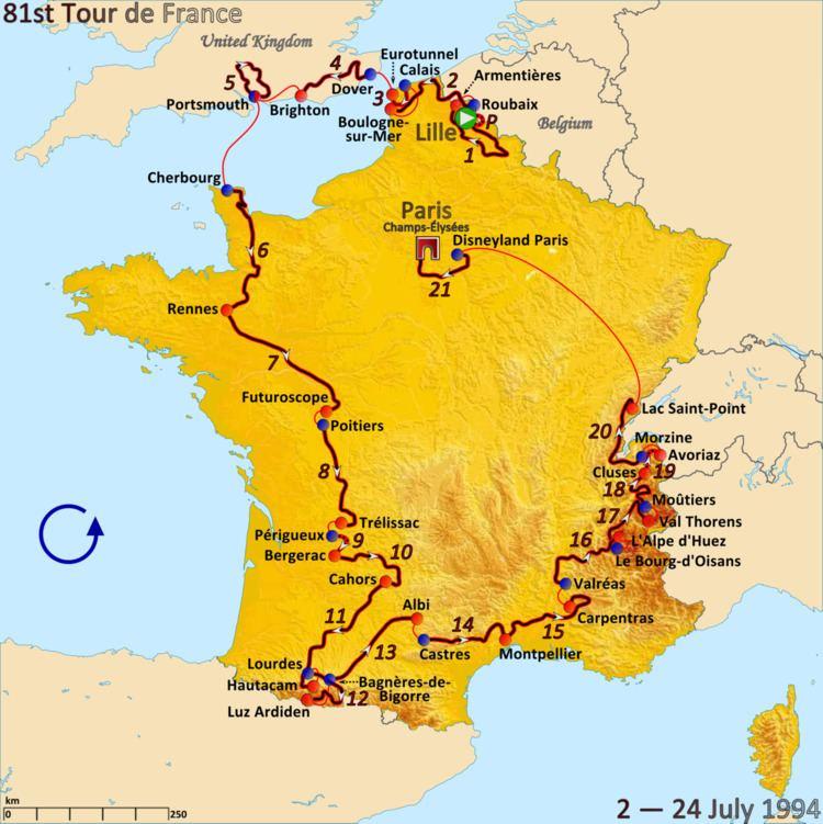 1994 Tour de France, Prologue to Stage 10