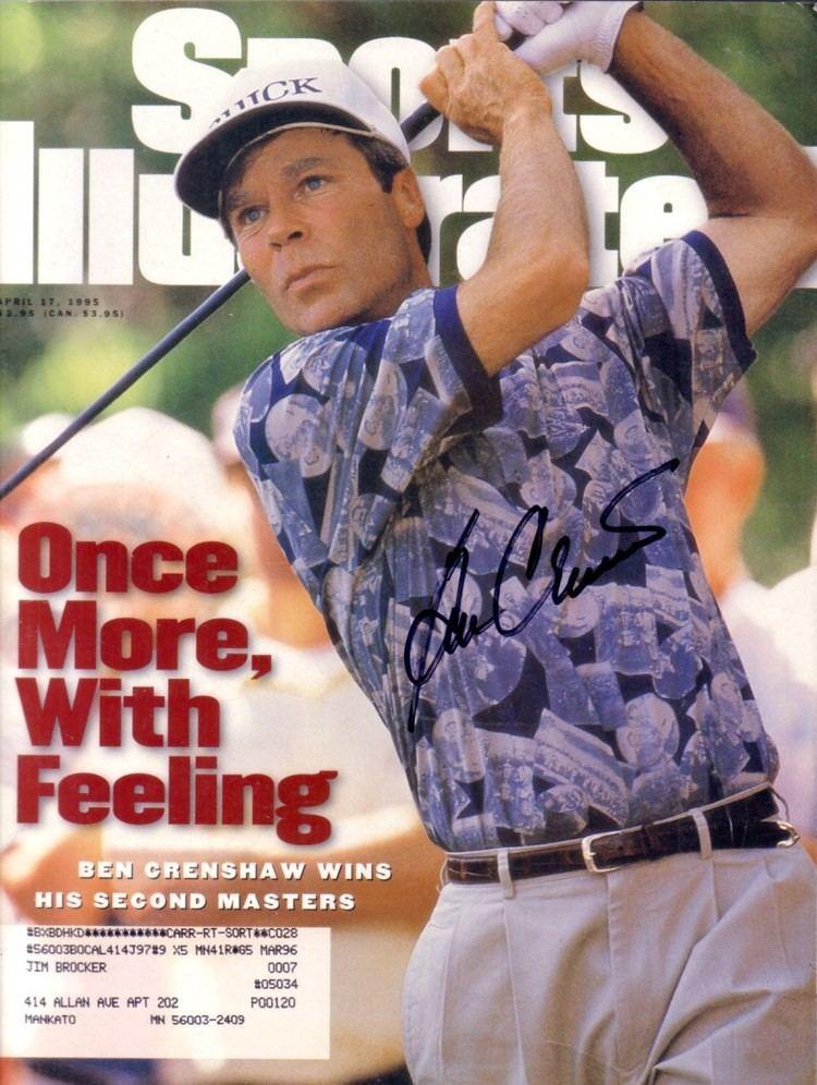 1995 Masters Tournament epyimgcomayautographsforsalebencrenshawauto