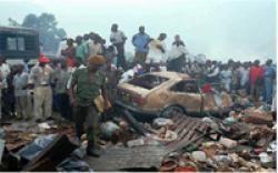 1996 Air Africa crash A cargo plane crashes into a market in Kinshasa Zaire killing at