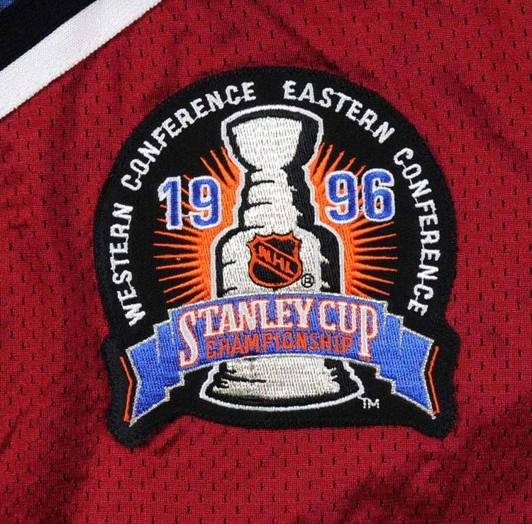 1996 Stanley Cup Finals 199596 Sandis Ozolinsh Colorado Avalanche Game Worn Jersey quot1996
