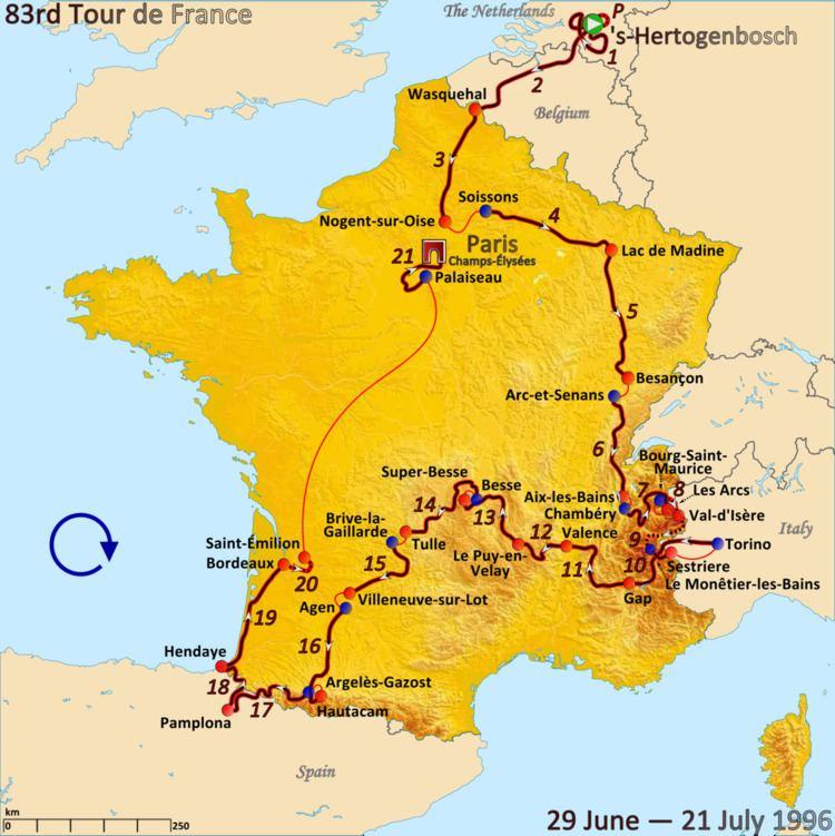 1996 Tour de France, Prologue to Stage 10