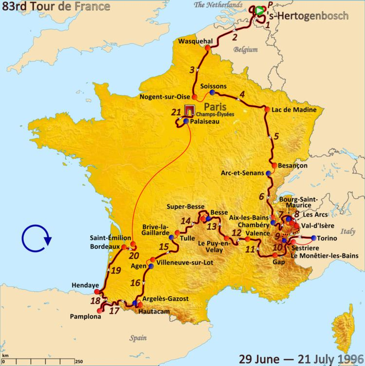 1996 Tour de France, Stage 11 to Stage 21