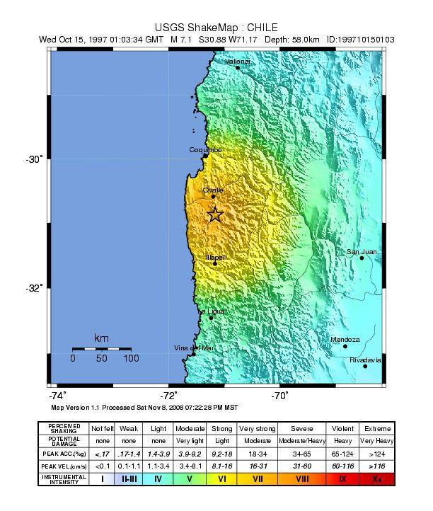 1997 Punitaqui earthquake