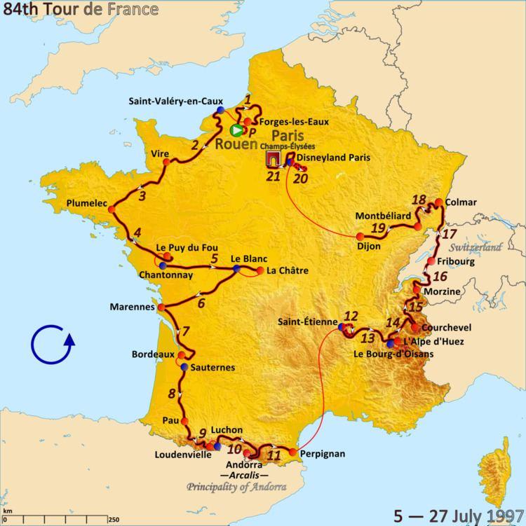 1997 Tour de France, Prologue to Stage 10