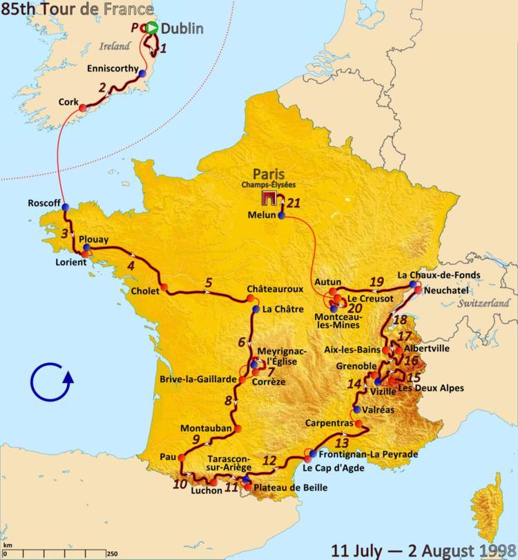 1998 Tour de France, Prologue to Stage 11