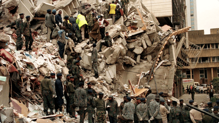 1998 United States embassy bombings America Attacked 911 PRIOR ATTACKS EMBASSY BOMBINGS