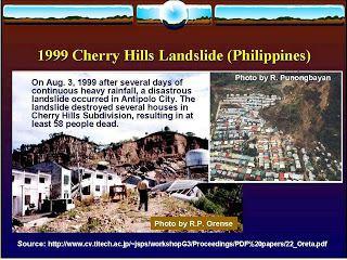 1999 Cherry Hills subdivision landslide MAA SHRINE HILLS DEVELOPMENT A Landslide Threat Responsible