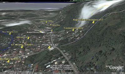 1999 Cherry Hills subdivision landslide MAA SHRINE HILLS DEVELOPMENT A Landslide Threat Aerial View of Ma