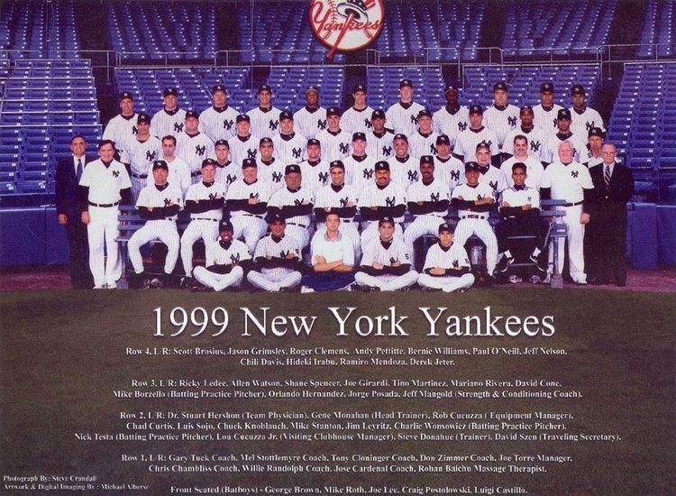 1999 New York Yankees season wwwthedeadballeracomTeamPhotos1999Yankeesjpg