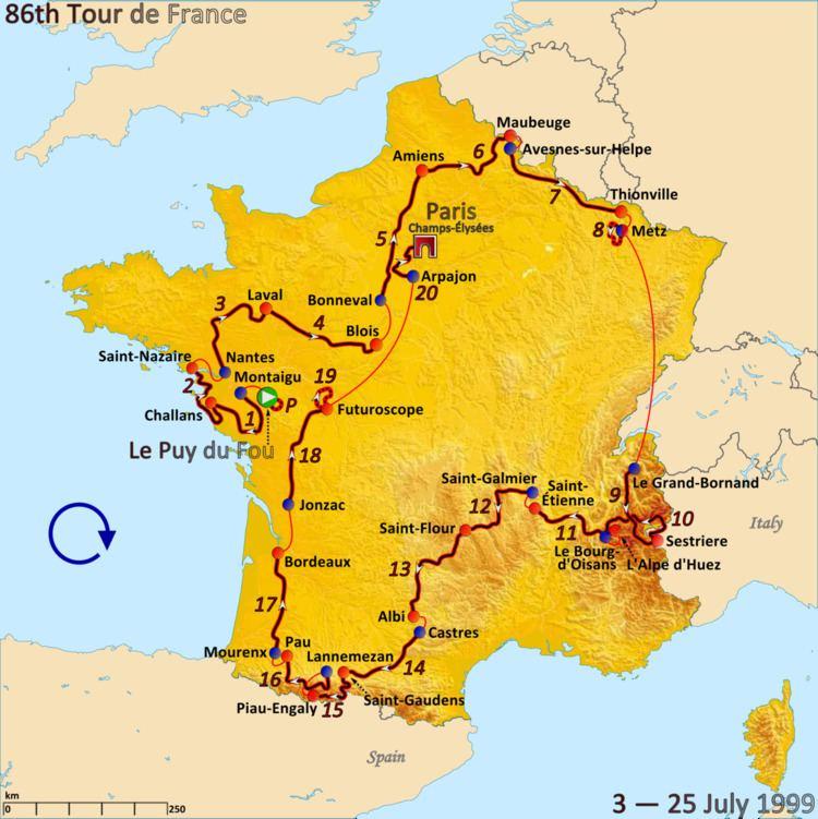 1999 Tour de France, Prologue to Stage 10