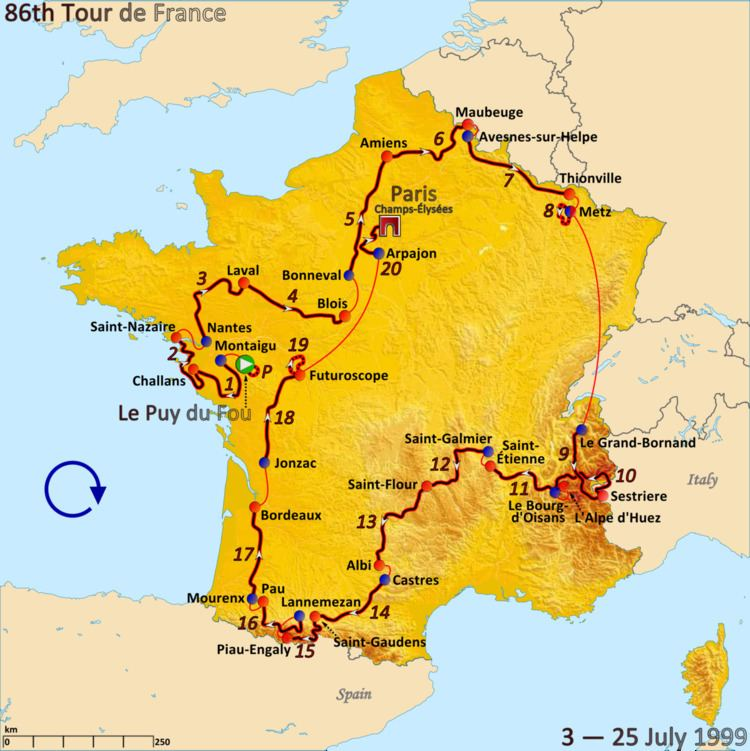 1999 Tour de France, Stage 11 to Stage 21