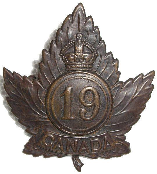 19th Battalion (Central Ontario), CEF