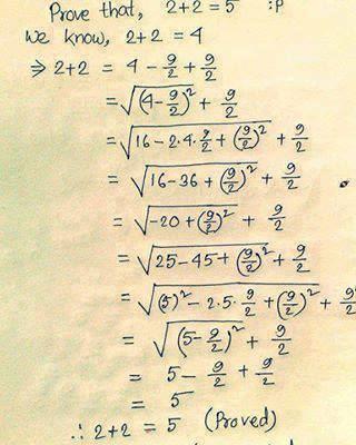 2 + 2 = 5 httpsistackimgurcomc0rxMjpg