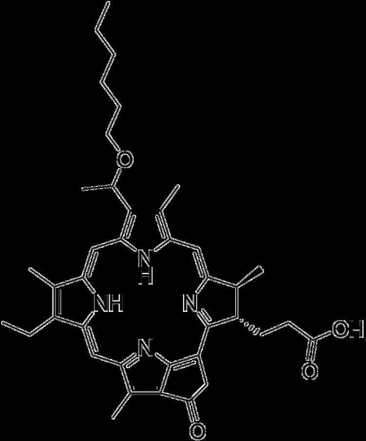 2-(1-Hexyloxyethyl)-2-devinyl pyropheophorbide-a