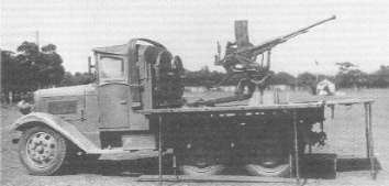 20 mm AA Machine Cannon Carrier Truck