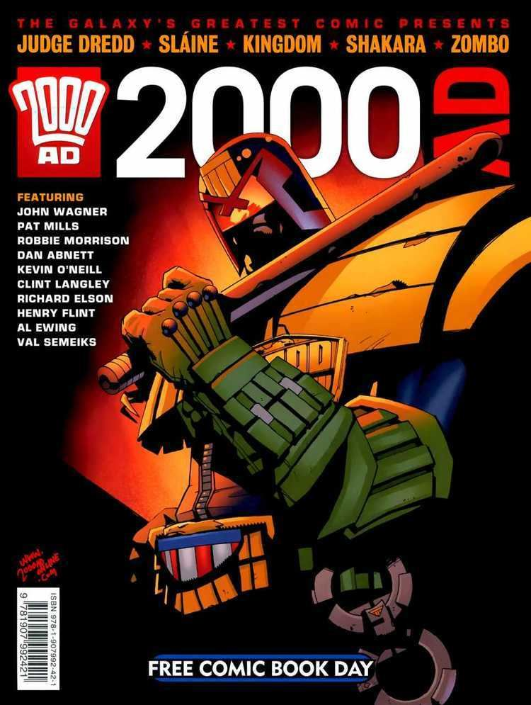 2000 AD (comics) 2000AD Free Comic Book Day FCBD 1 2000AD FCBD 2011 Issue
