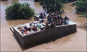 2000 Mozambique flood BBC News EF Mozambique flood the threat of disease