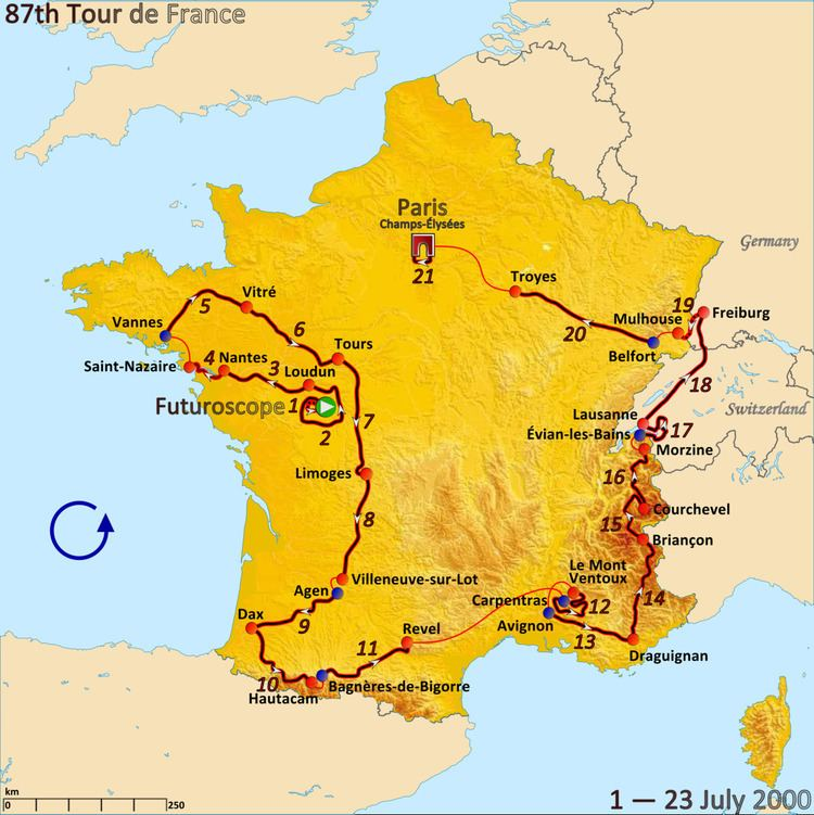 2000 Tour de France, Stage 12 to Stage 21