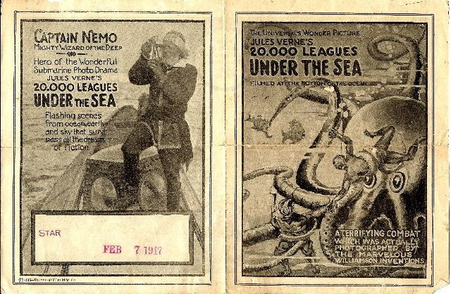 20,000 Leagues Under the Sea (1916 film) Advertising herald for 20000 LEAGUES UNDER THE SEA 1916 with