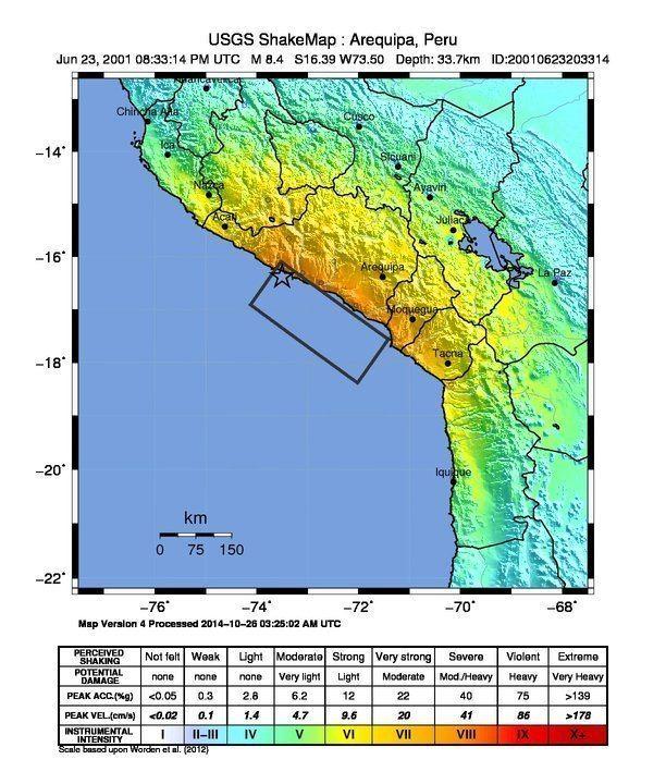 2001 southern Peru earthquake httpsuploadwikimediaorgwikipediacommons00