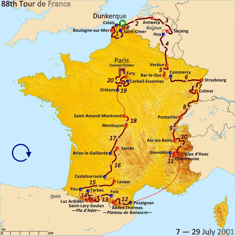 2001 Tour de France, Prologue to Stage 10